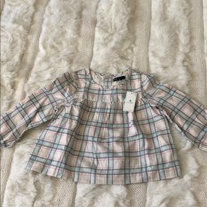 Baby Gap plaid long sleeve top blouse